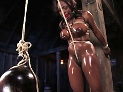 Jada Fire gets her big breasts bound and is forced to squirt.