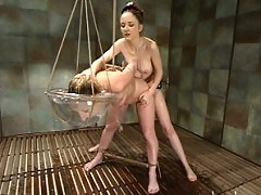 Crystal Frost is submissive, hungry for rope bondage and horny.