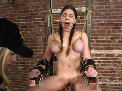 Electric chair inmate makes a last request of an orgasm.