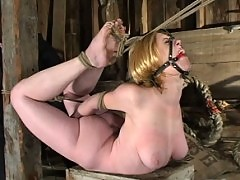 Darling suffers through some of the most intense bondage