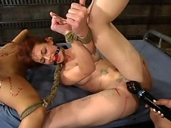 Bondage, ass licking, flogging, hot wax and forced orgasms.